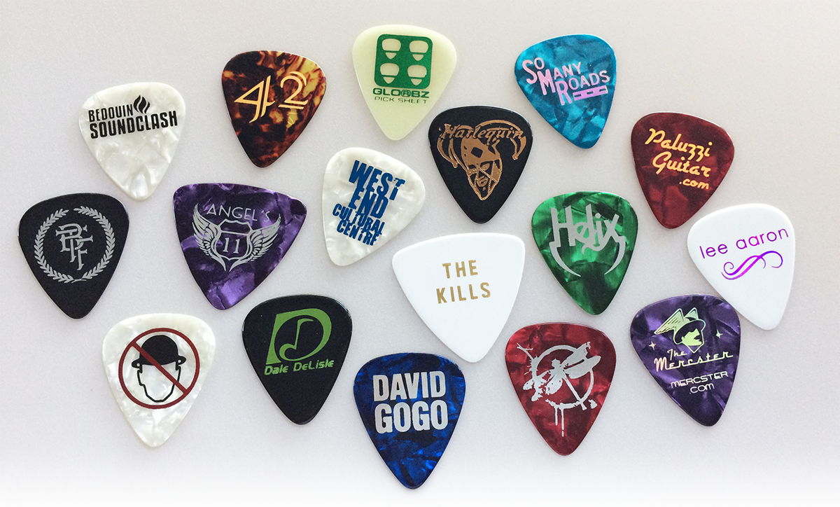 foil printed guitar picks- custom foil printed guitar picks