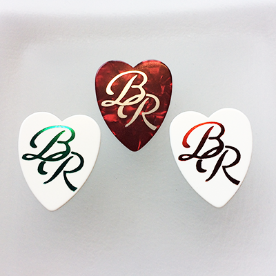 foil printed guitar picks- heart pick selection