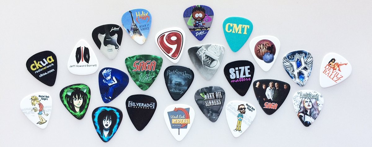 digitally printed guitar picks- custom printed digitally  guitar picks
