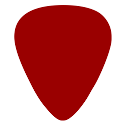 digitally printed guitar picks- Solid Red 351