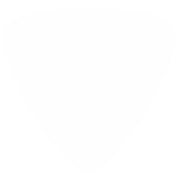 foil printed guitar picks- solid white rounded triangle