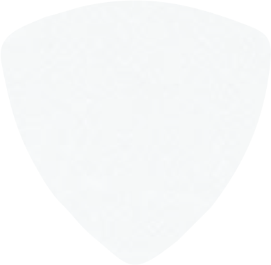 digitally printed guitar picks- Solid White Rounded Triangle