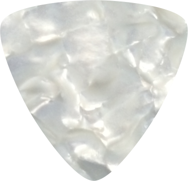 digitally printed guitar picks- Pearl White Rounded Triangle