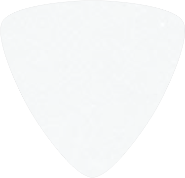 digitally printed guitar picks- Solid White Triangle