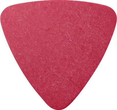 delrin guitar pick - triangle red